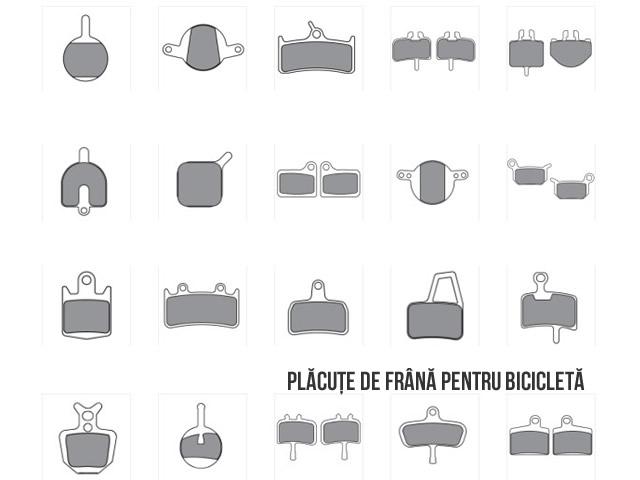 placute frana bicicleta