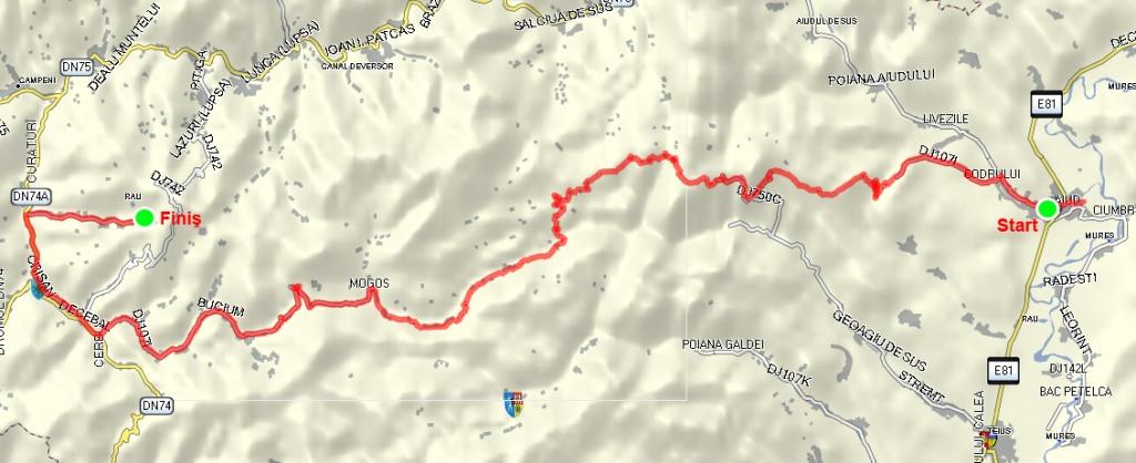 traseu cicloturism aiud rosia montana