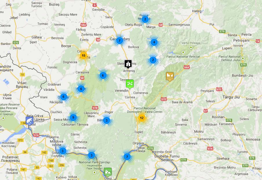S A Lansat Harta Interactivă A Obiectivelor Turistice Din Banatul