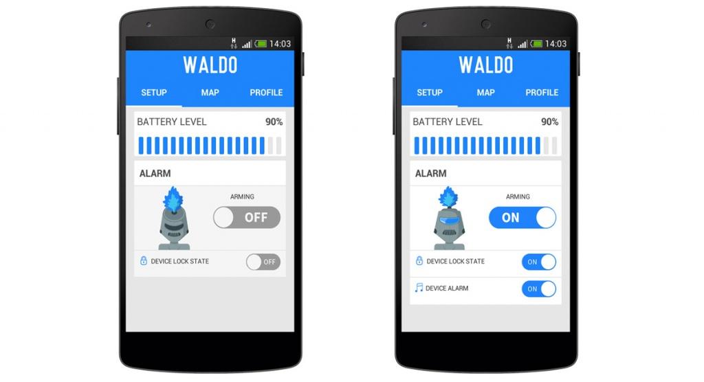 alarma gsm bicicleta waldo aplicatia smart phone