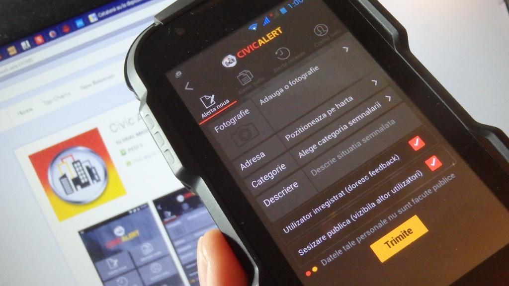 aplicatie CivicAlert parcari ilegale 01