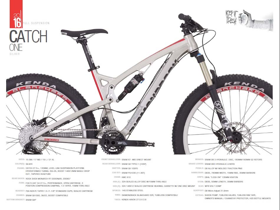 Diamondback-catch-1-specs