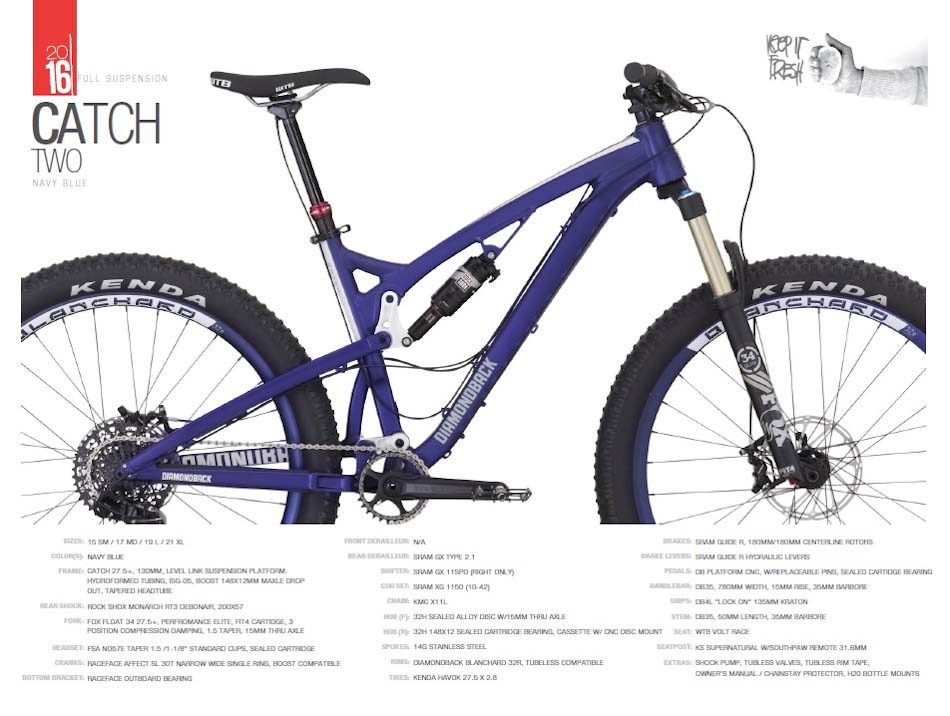 Diamondback-catch-2-specs