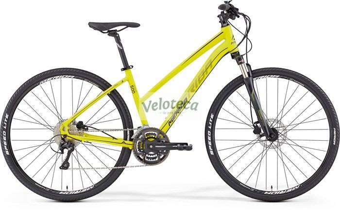 Bicicleta cross de dama Merida CROSSWAY 500 2016 GALBENA