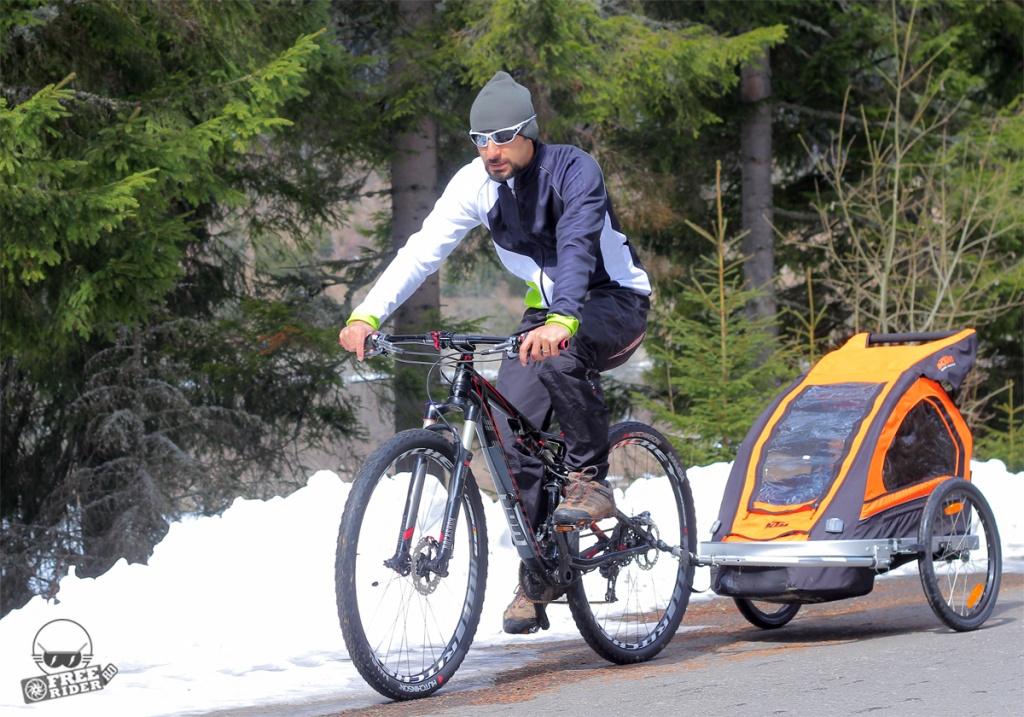 review recenzie test remorca bicicleta ktm trailer 01