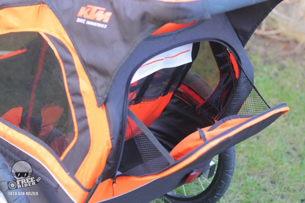 review recenzie test remorca bicicleta ktm trailer 13