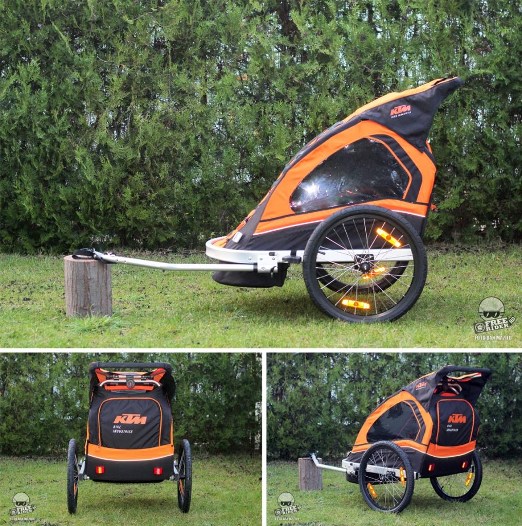 review recenzie test remorca bicicleta ktm trailer 16