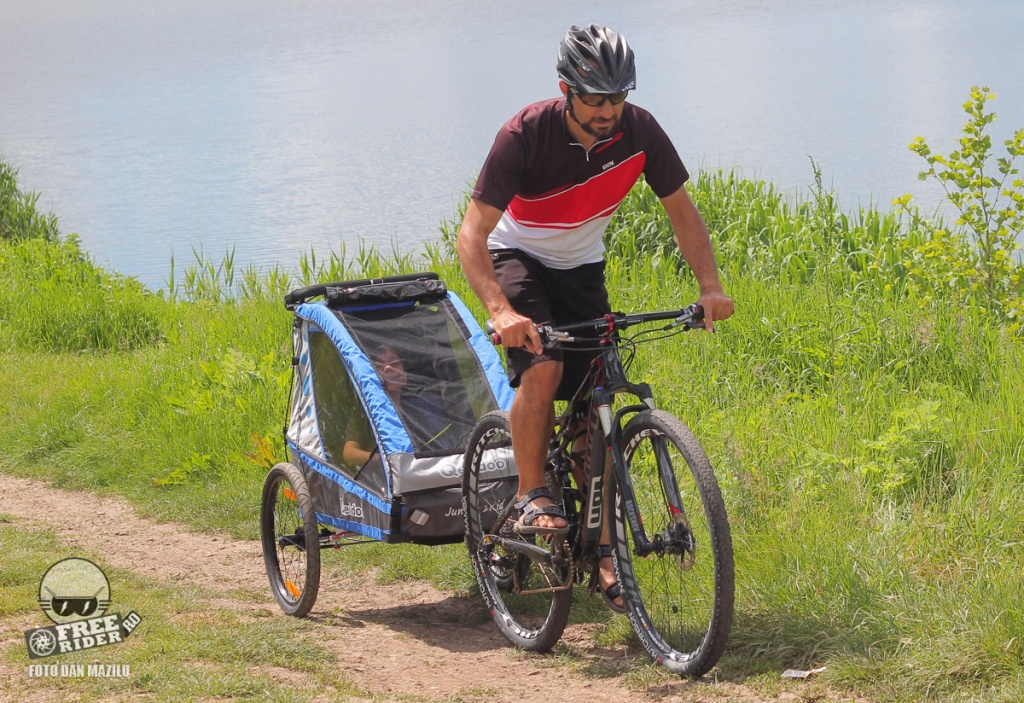 review test recenzie remorca bicicleta qeridoo jumbo 1kid 10