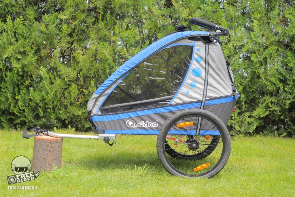 review test recenzie remorca bicicleta qeridoo jumbo 1kid 13