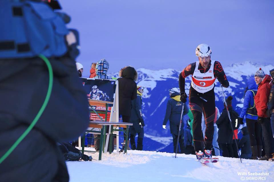 Alban Lakata la o competiție de ski de tură