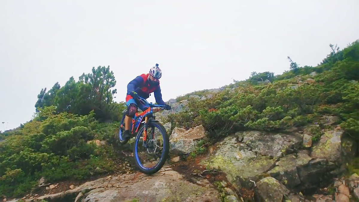 varful Zuzurgau calimani bicicleta